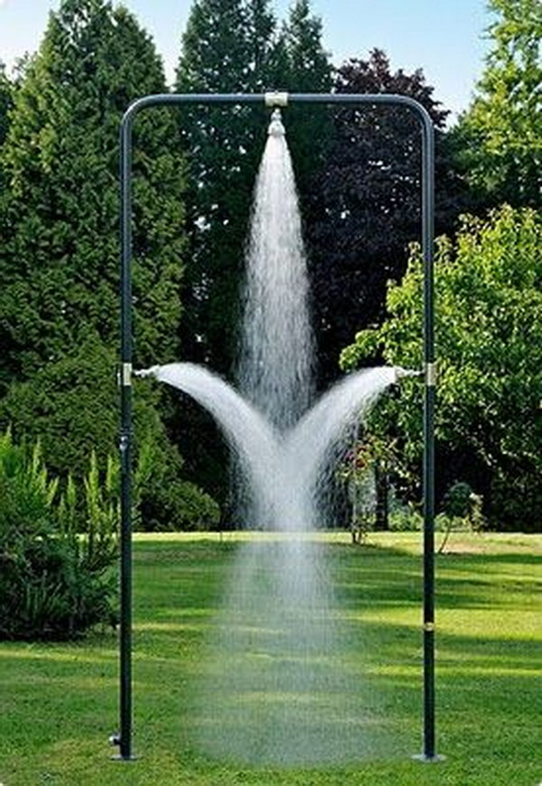Heavenly Cool Outdoor Shower.