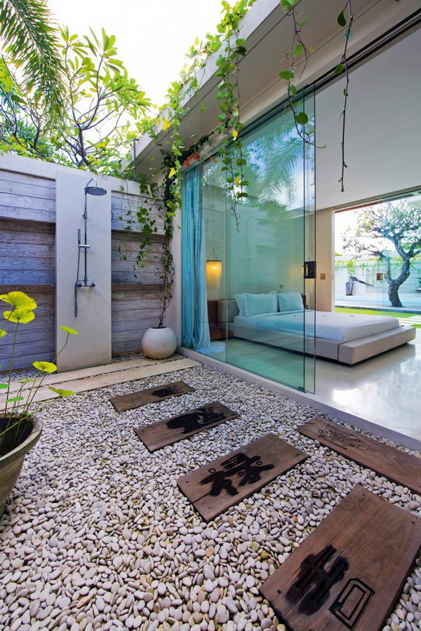 Asian inspired Luxury Outdoor Shower.