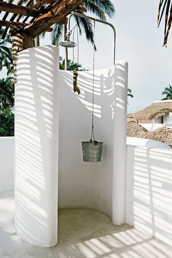 Outdoor White Shower.