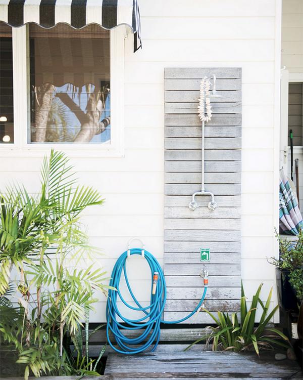 Beach Style Outdoor Shower.