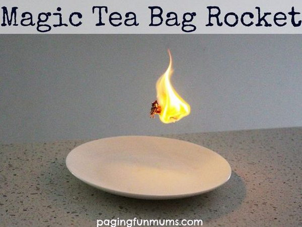 Magic Tea Bag Rocket: Awesome Science Experiment for kids.