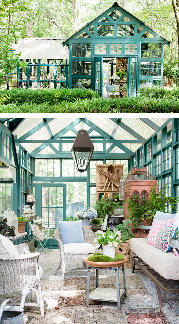A Turquoise Chic Shed.