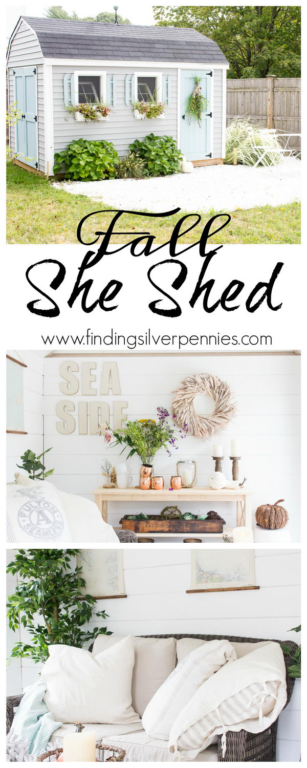 Fall in the She Shed.
