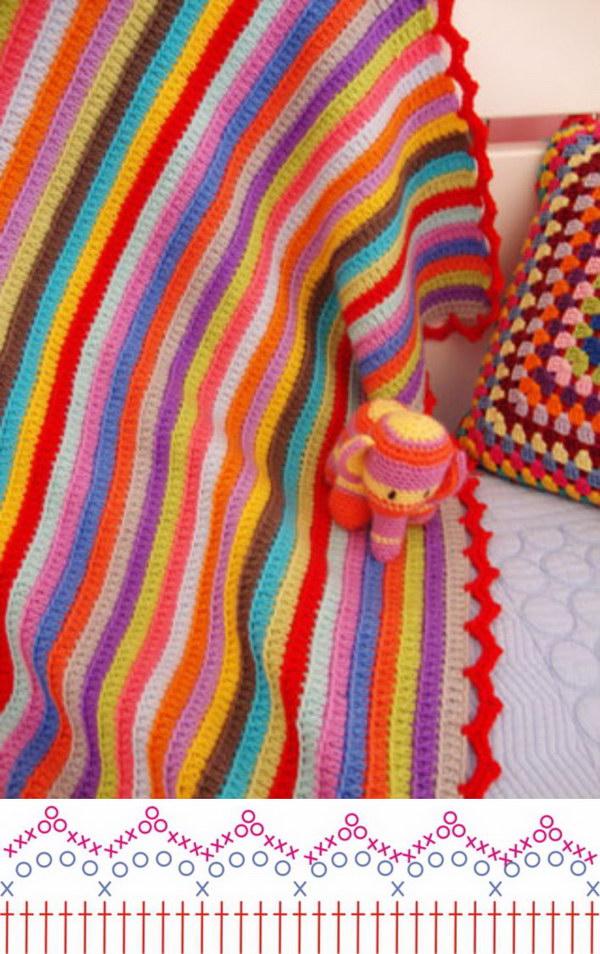 Stripy Blanket Edging.