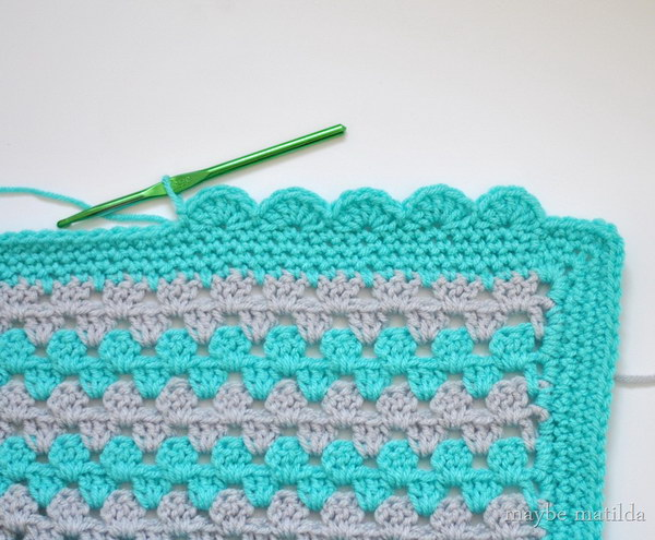 Scalloped Crochet Edging.