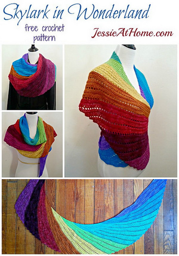 Rainbow Crochet Shawl.