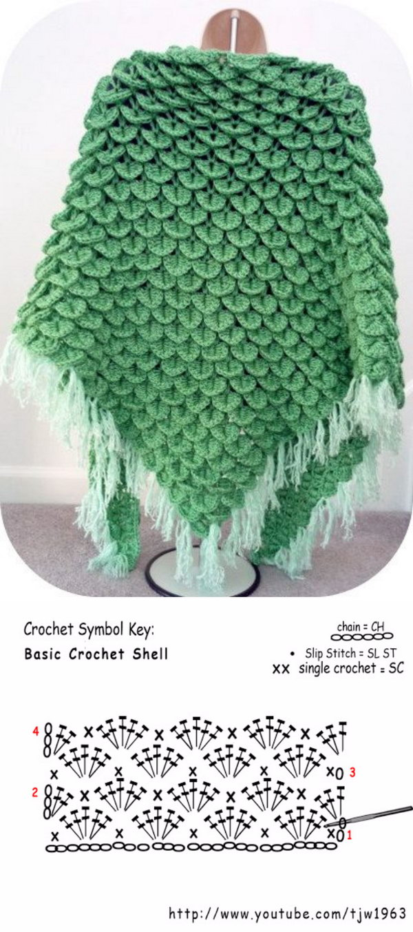 Shell Crochet Shawl.