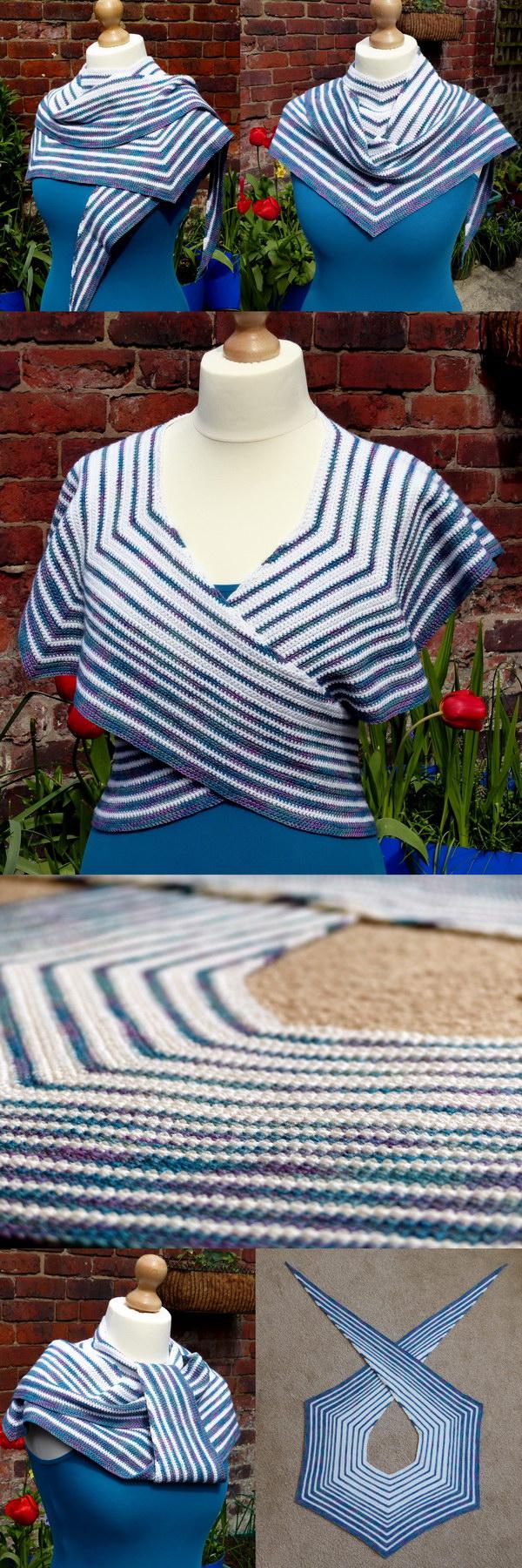 Pacific Rim Crochet Shawl.