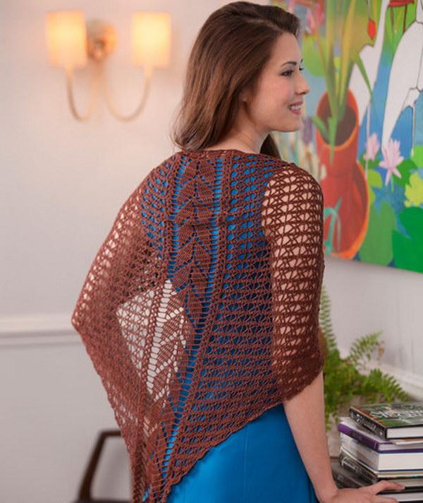 Falling Leaves Crochet Shawl.