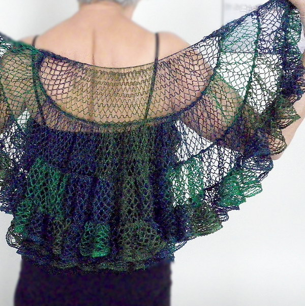 Half Circle Crochet Shawl.