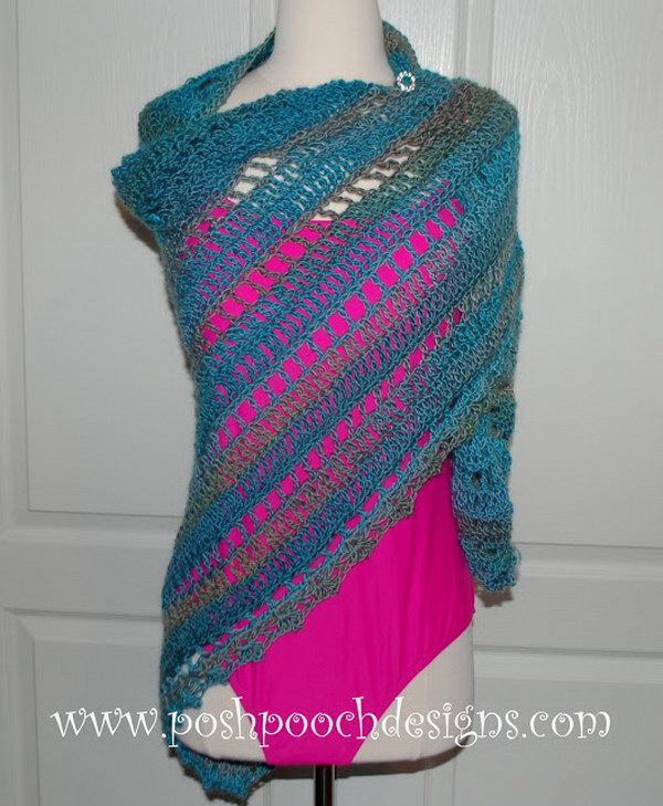 Beach Vacation Crochet Shawl Pattern.