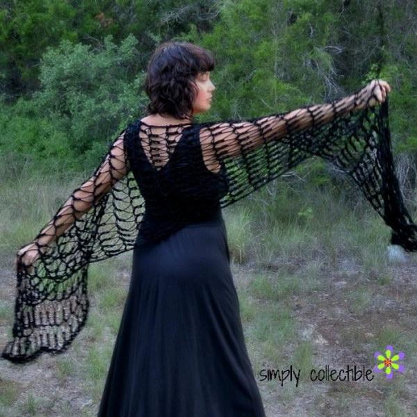 Flirty Crochet Shawl.