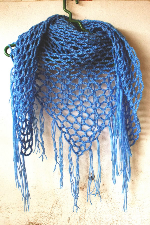 Crochet Easy Shawl Triangle Pattern Pakbit For