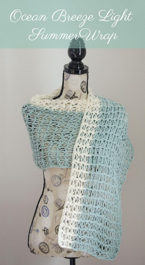 Ocean Breeze Light Summer Wrap.