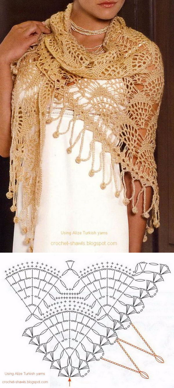 Gorgeous Lace Crochet Shawl.
