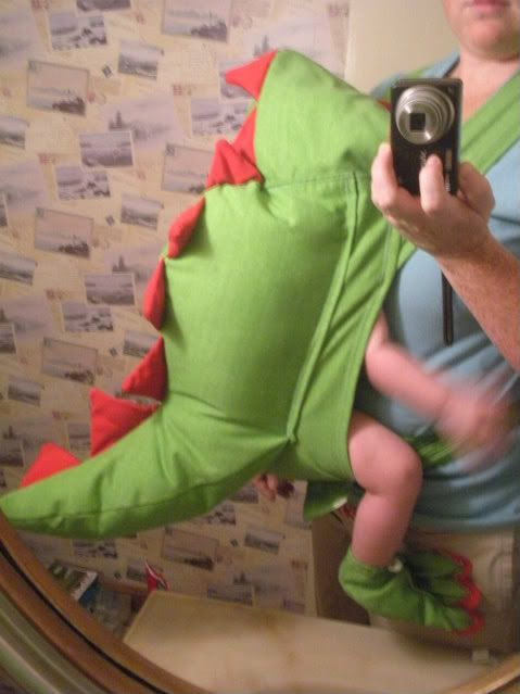 Baby Dragon Sling Costume.