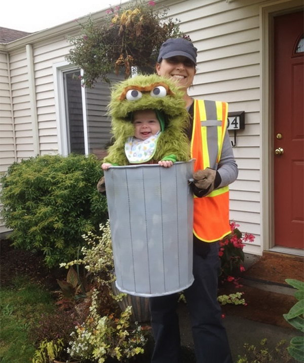 Oscar the Grouch Baby Costume.