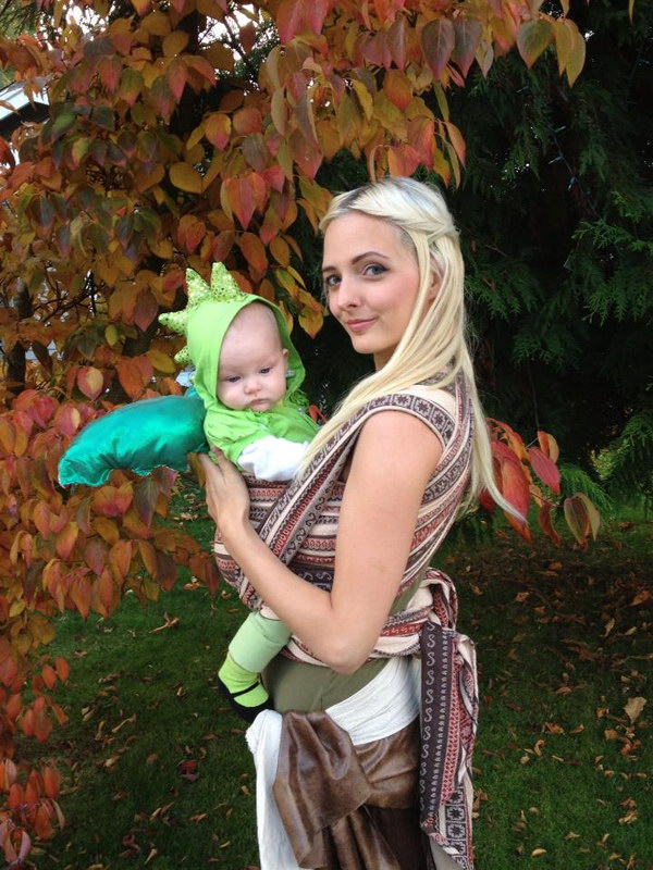 Daenerys Targaryen With Her Baby Dragon.