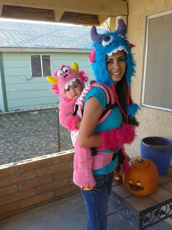 Monsters Babywearing Costume.