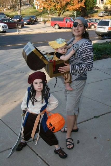 Pirate Babywearing Costume.