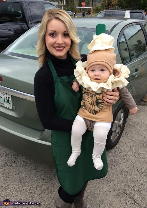 Starbucks Barista and Frappuccino Costume.