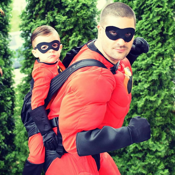 Mr. Incredible and Jack Jack.