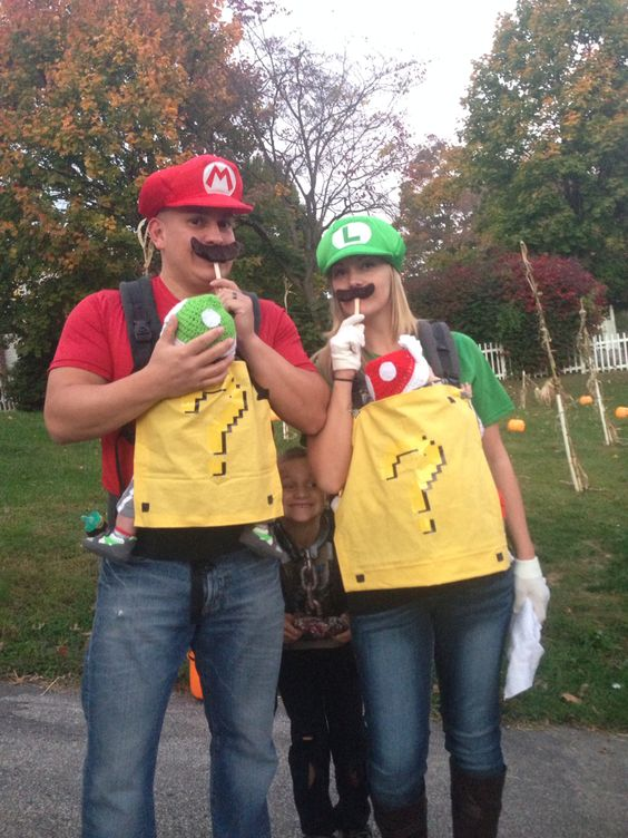 Super Mario Brothers Baby Costume & 50+ Cute Baby-Wearing Halloween Costumes 2017