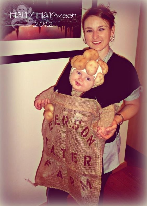 Sack Of Potatoes Baby Costume.