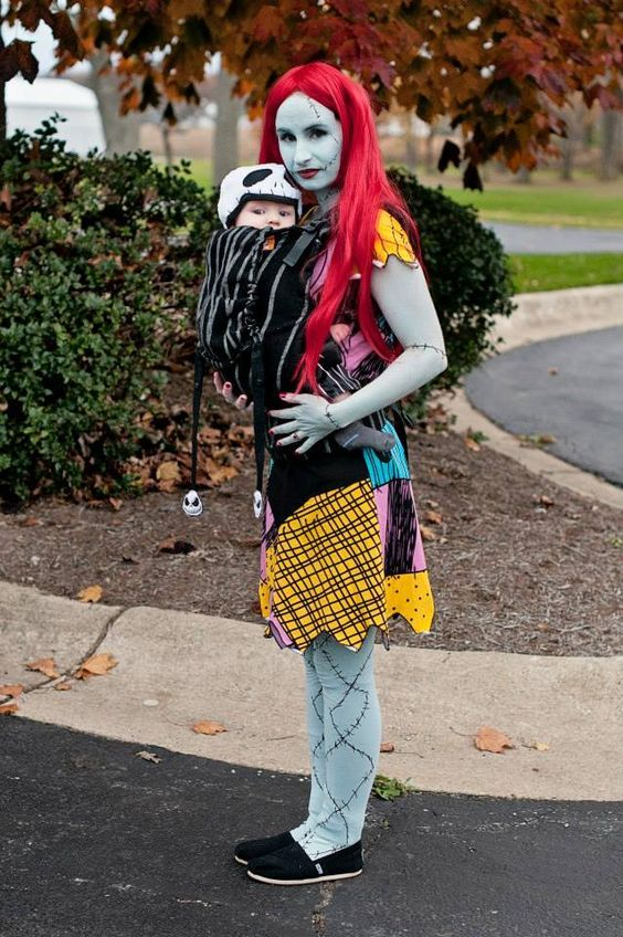 Jack Skellington and Sally Babywearing Costume.