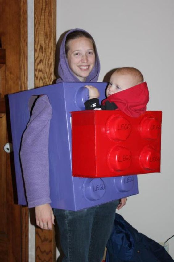 Lego Baby Carrier Costume.
