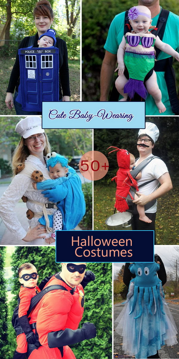 Cute Baby-Wearing Halloween Costumes.