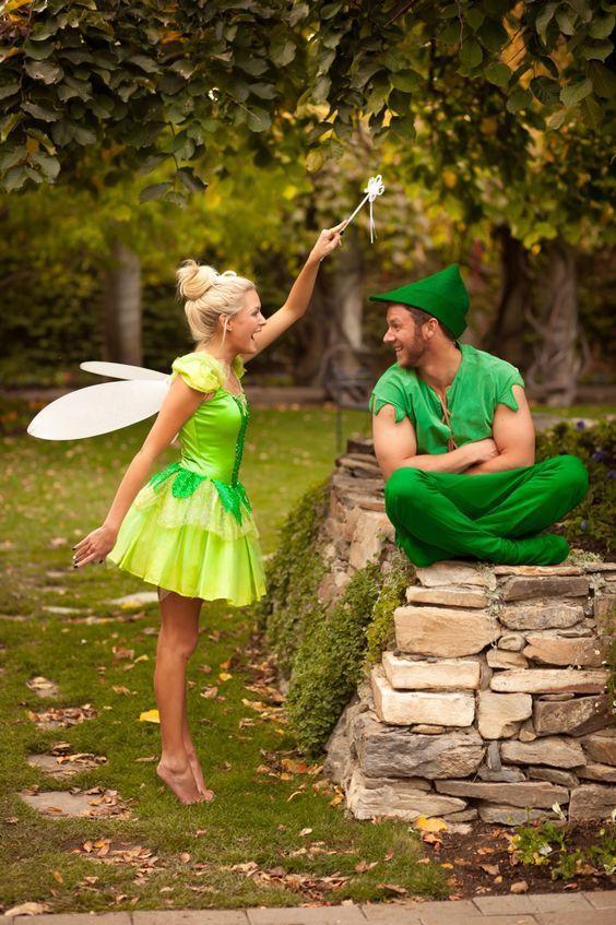 TinkerBell and Peter Pan.