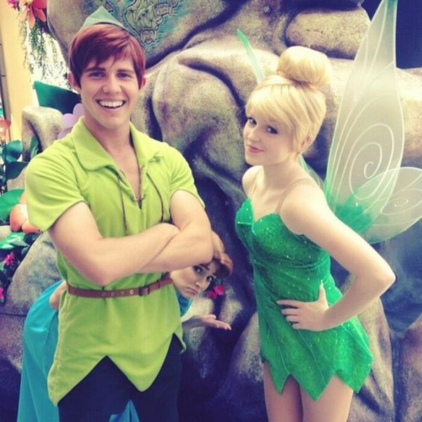 TinkerBell and Peter Pan.