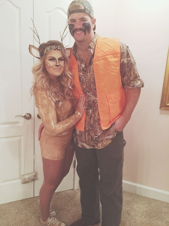 Deer and Hunter Couple Costume.