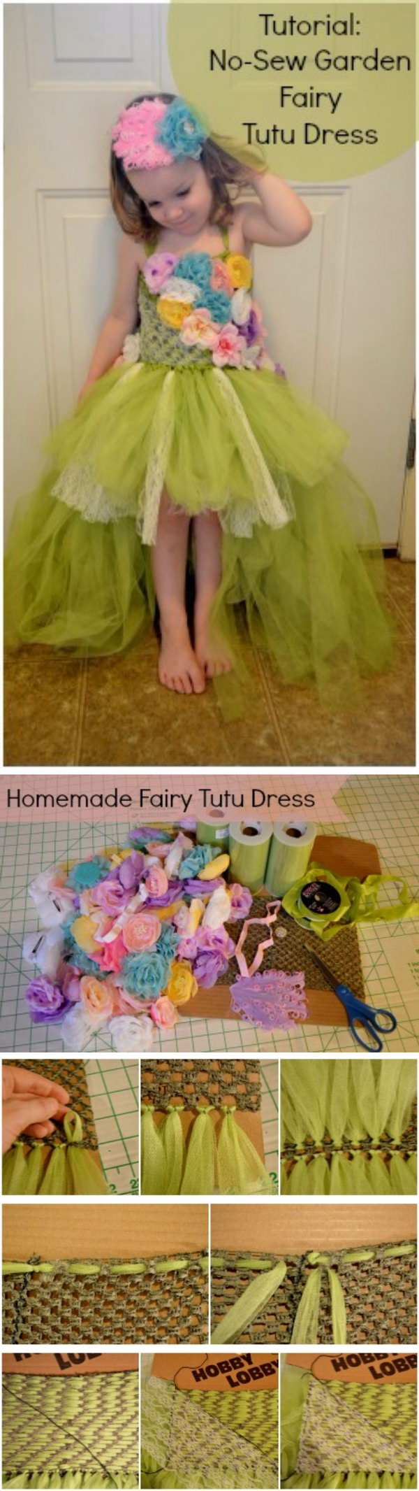No Sew Fairy Tutu Dress