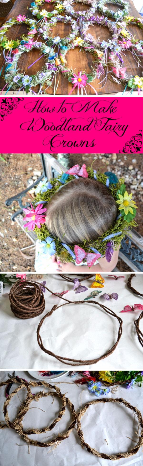 DIY Fairy Crowns.