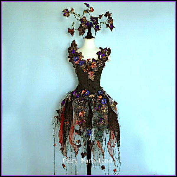 Enchantingly Evil Dark Faerie Costume.