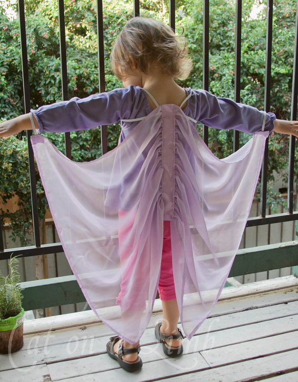 Homemade Silky Fairy Wings.