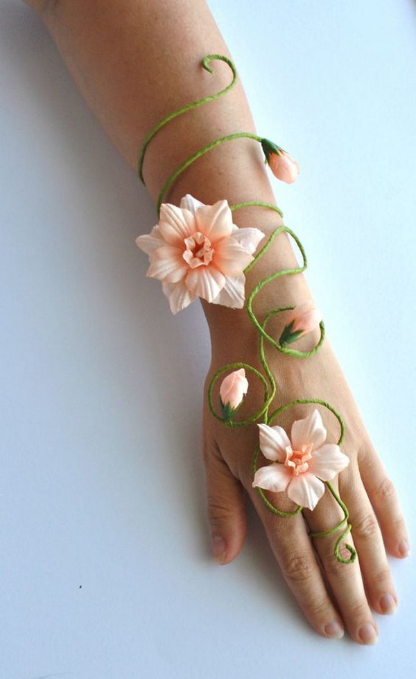 Flower And Vine Fairy Arm Cuff & Beautiful Fairy Costumes for Girls 2017