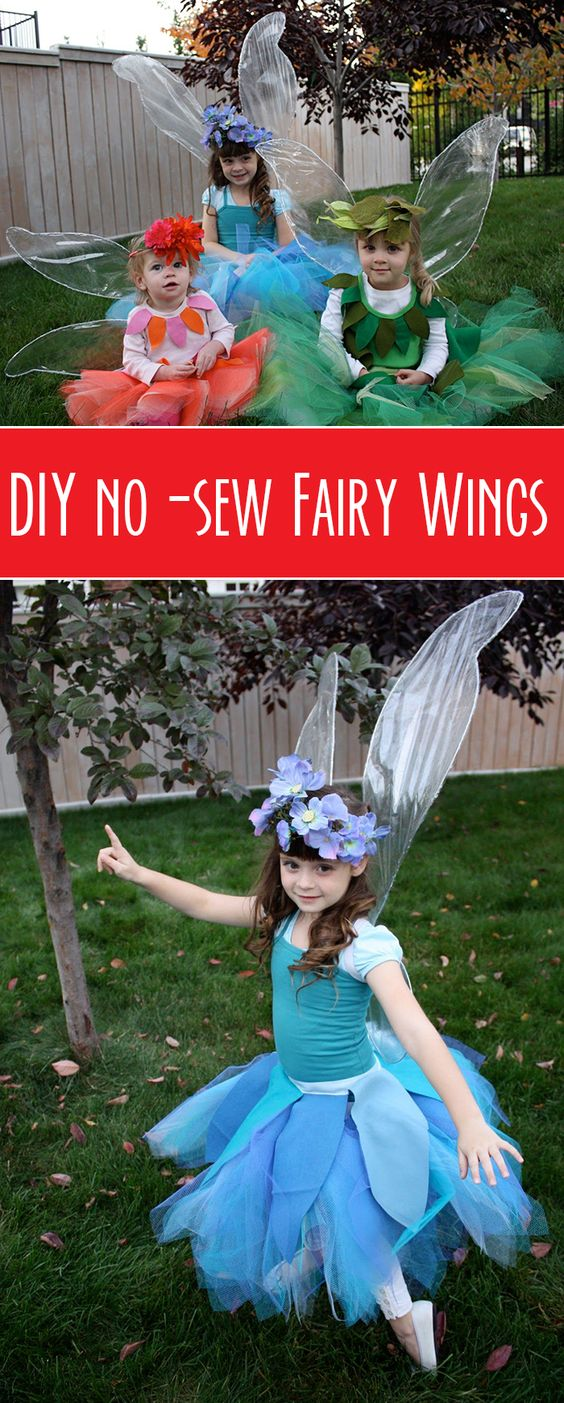 Beautiful fairy costumes for girls 2017 diy no sew iridescent fairy wings tutorial solutioingenieria Gallery