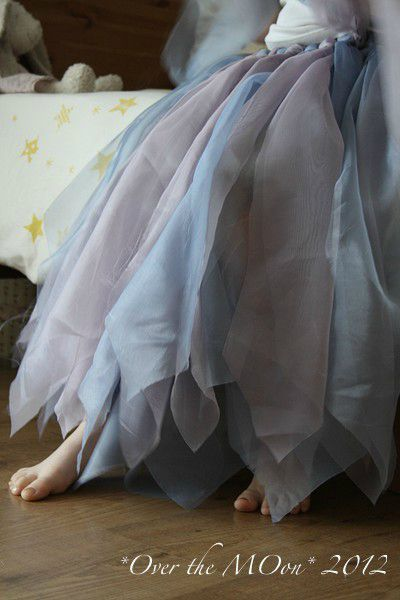 DIY a Fairy Skirt with Old Curtains.