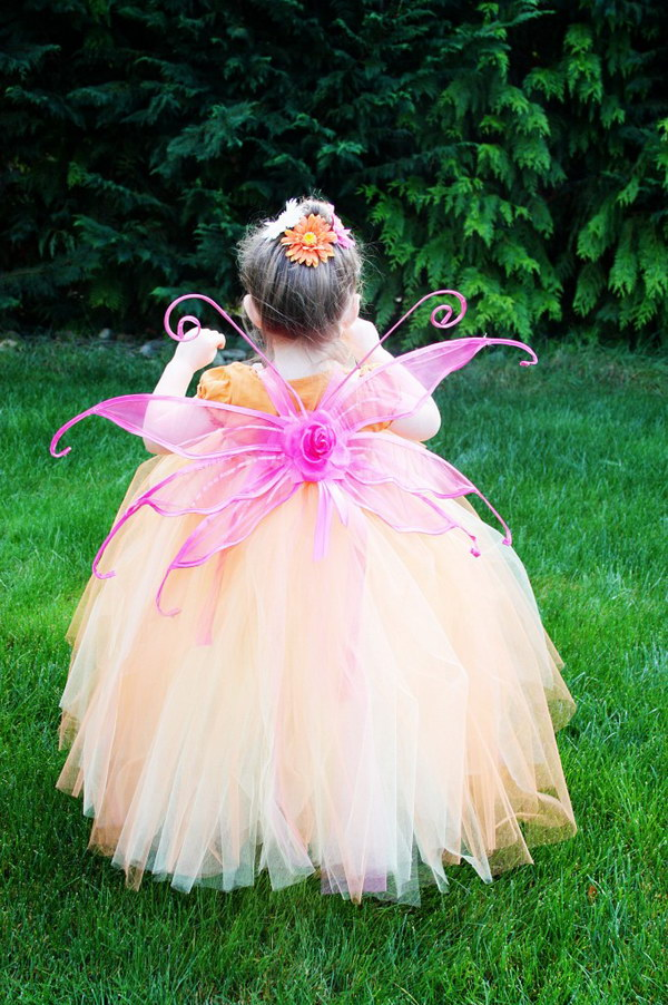 Easy Fairy Costume Tutu Dress Tutorial.