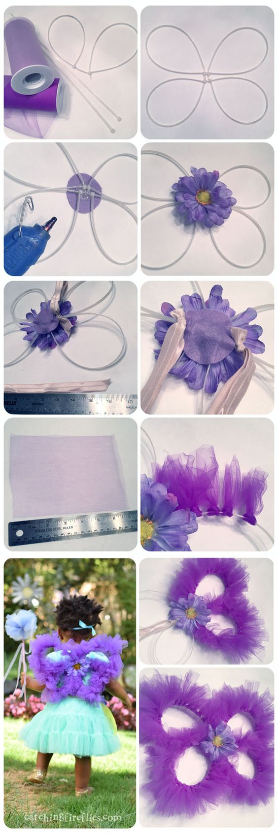 DIY Fairy Wings With Tulle.