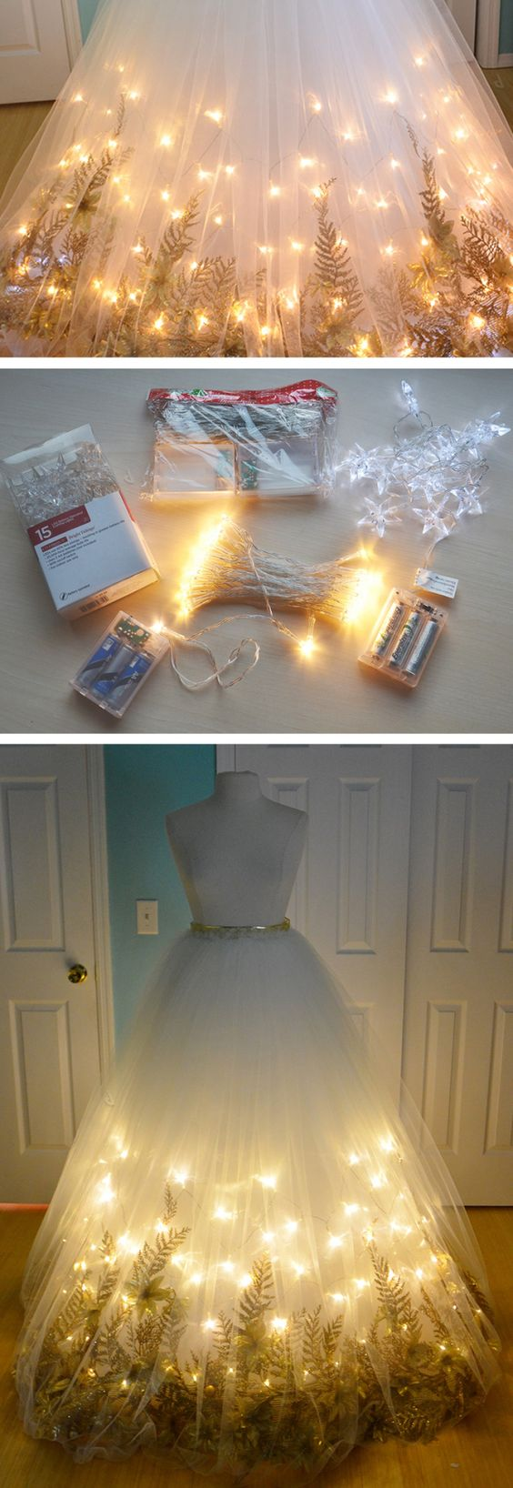DIY Light Up Fairy Dress.