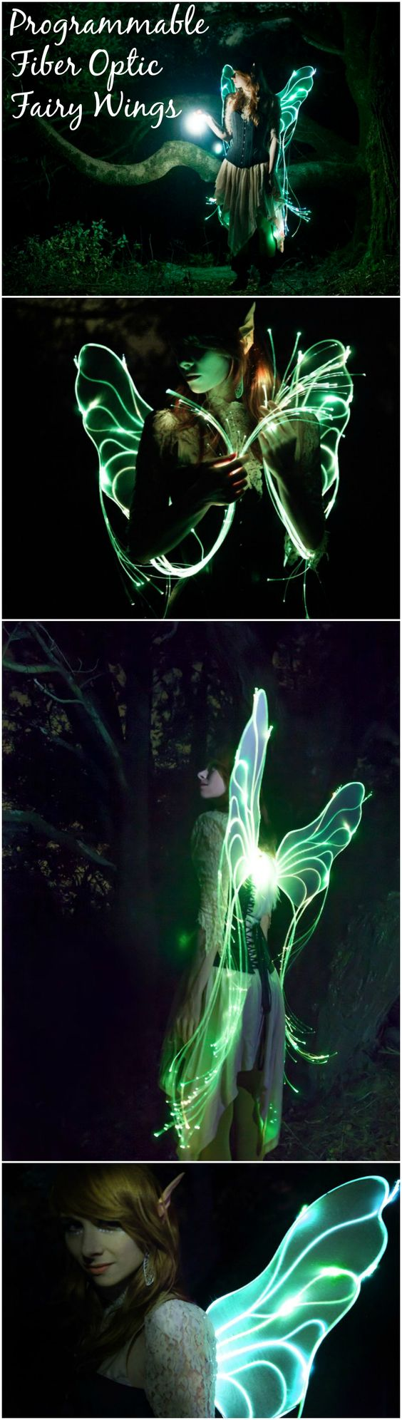 Fiber Optic Fairy Wings.