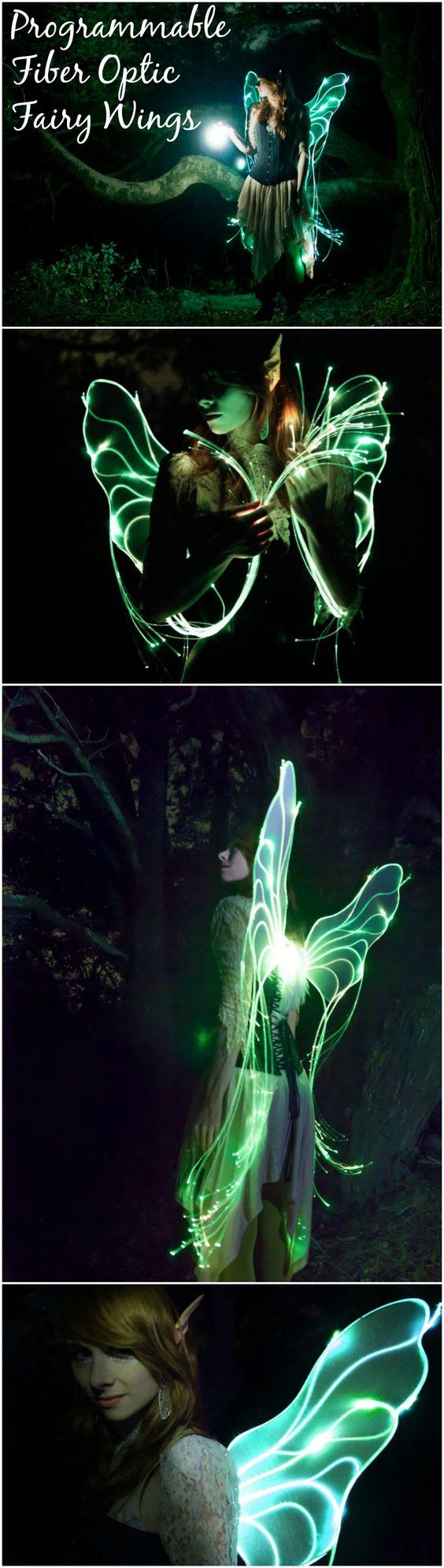 Fiber Optic Fairy Wings.