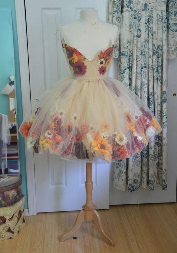 Fall Flower Fairy Skirt.