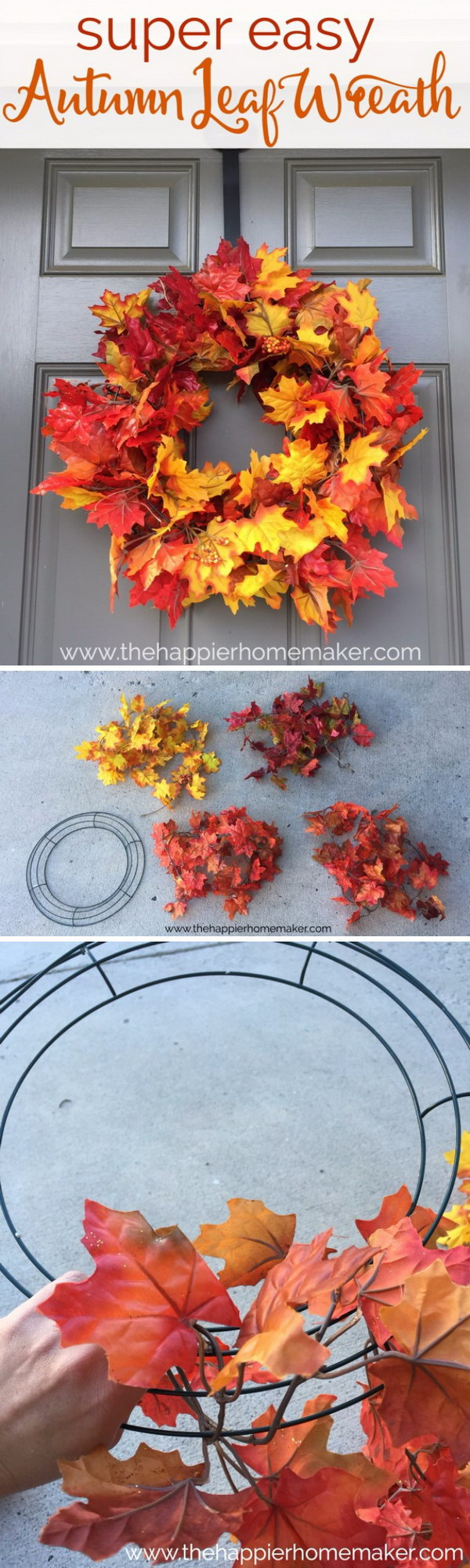 5 Minute Autumn Leaf Wreath.