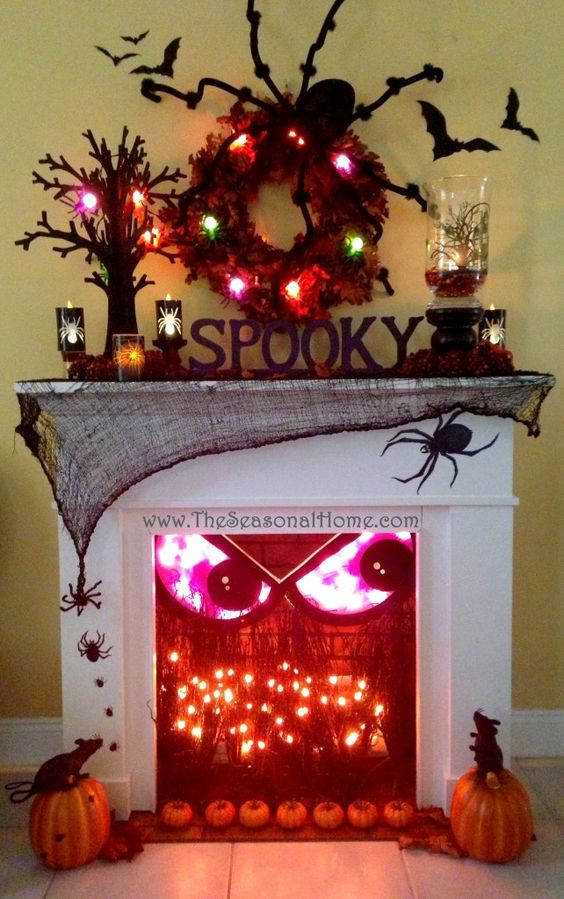 Spooky Fireplace for Halloween.
