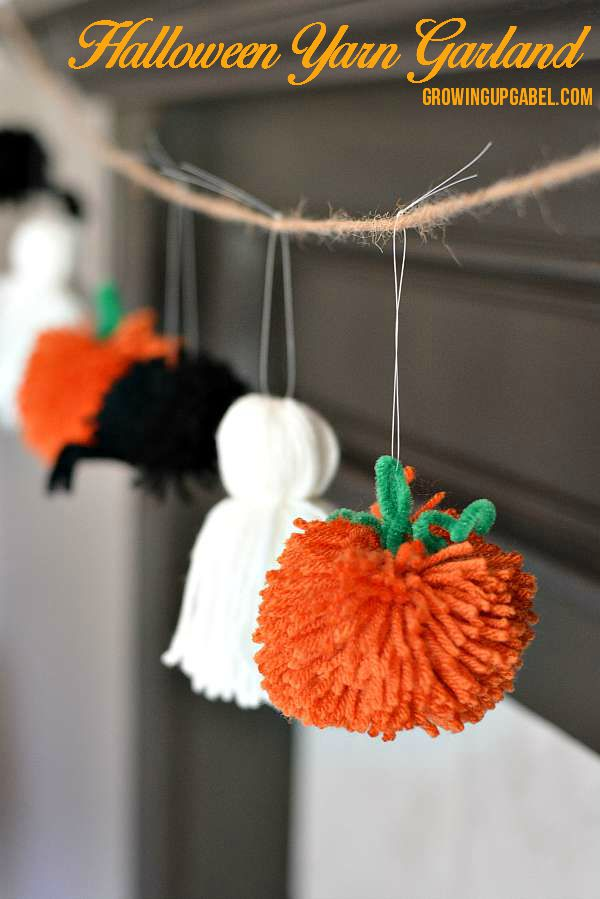 Easy Halloween Garland from Yarn.